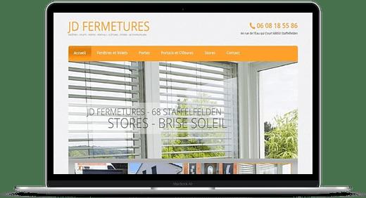 JD Fermetures © Création site Web Cataclaude