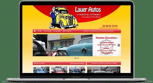 Lauer Autos © Création site Web Cataclaude