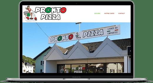Pronto Pizza © Création site Web Cataclaude