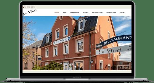 Restaurant Le Vinci © Création site Web Cataclaude