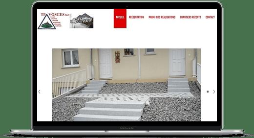 TP Vosges © Création site Web Cataclaude
