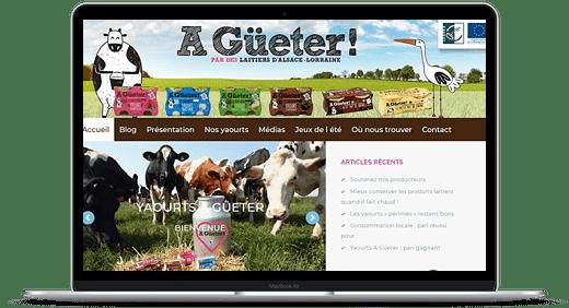 Yaourts À Güeter © Création site Web Cataclaude
