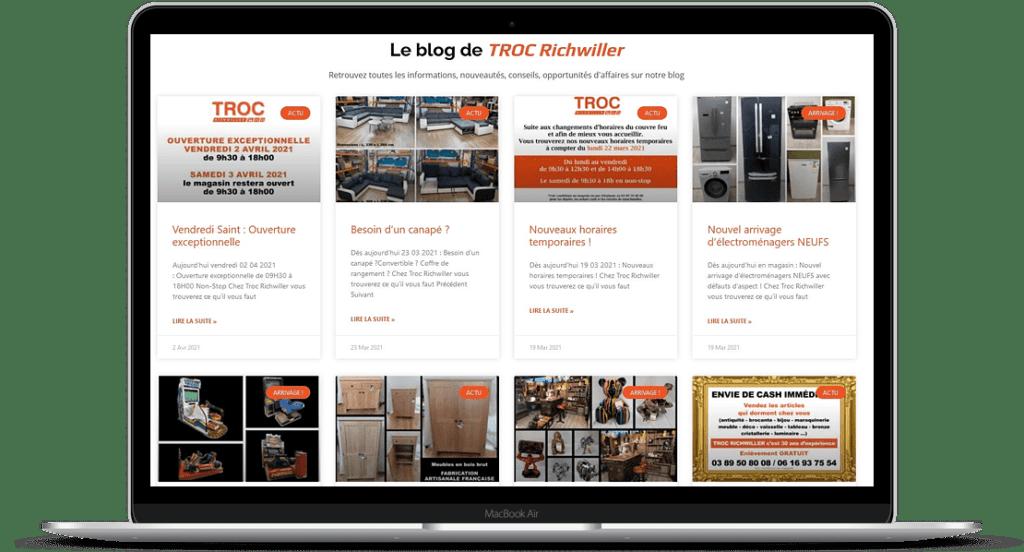 Info Cataclaude : 02/04/2021 : Création de site Internet (Blog) pour Troc Richwiller à 68 Richwiller entre Wittelsheim, Kingersheim, Wittenheim et Mulhouse