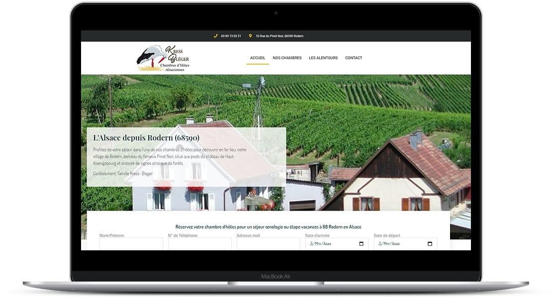 14/05/2021 : Mise en ligne du nouveau site Internet pour les chambres d'hôtes Kress-Bleger-Vins d'Alsace à 68 #Rodern au cœur du vignoble Alsacien entre #Sélestat et #colmar ) À noter qu'à peine mis en ligne et en réussissant dès le départ, à obtenir un tel score en terme de vitesse d'affichage, je dirais que ce site Internet est plutôt bien parti ?? À suivre..