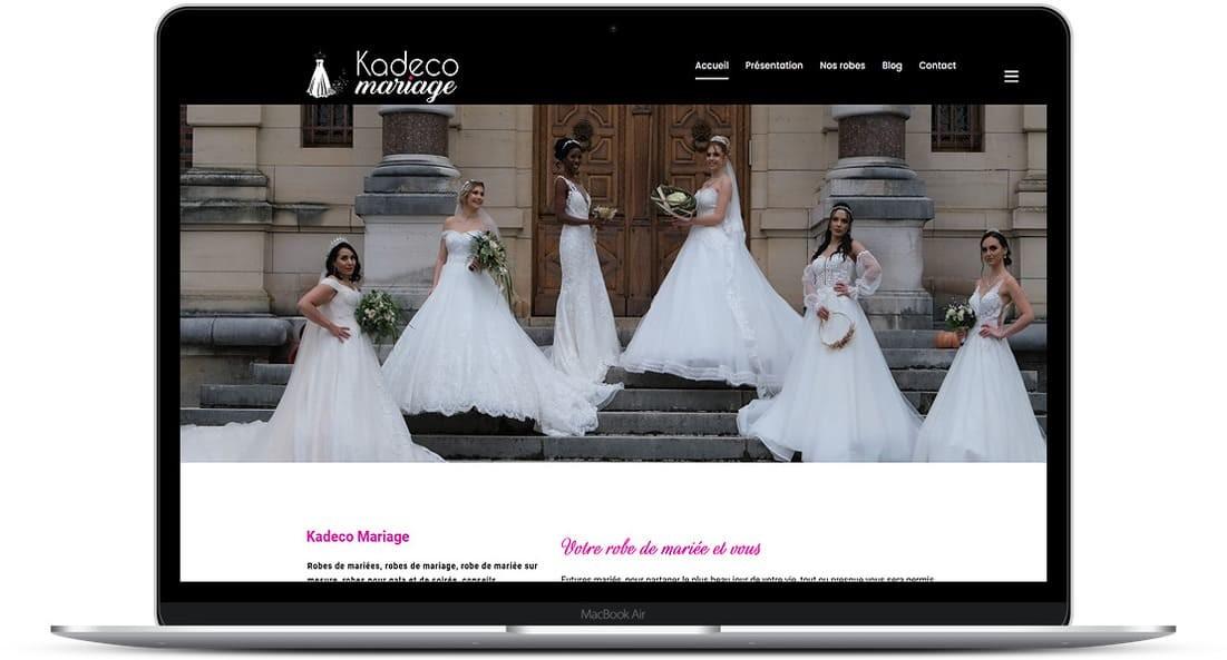 Cataclaude création site Internet pour Kadeco Mariage Robes de mariées, robes de mariage, robe de mariée sur mesure, robes pour gala et de soirée, conseils 25400 Audincourt