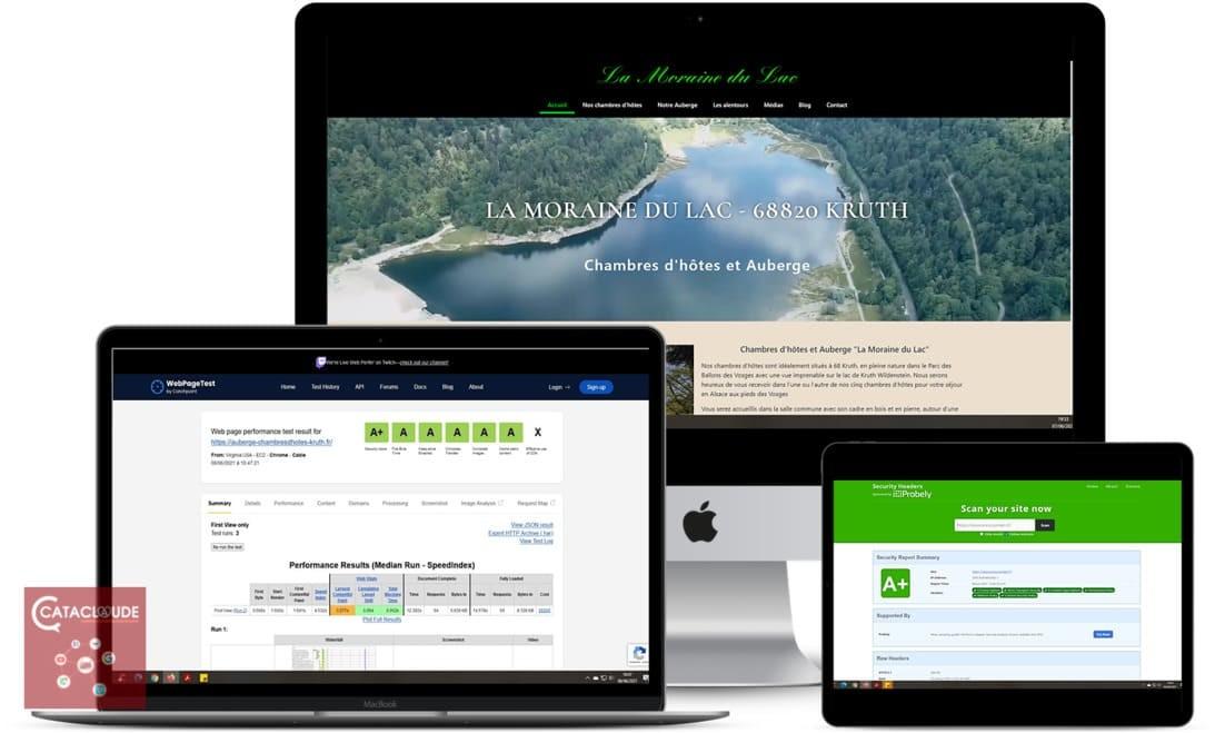Création de site Internet depuis 68 Wittelsheim entre Thann et Mulhouse pour Auberge du Lac - Chambres d'Hotes - 68 Kruth - Cataclaude