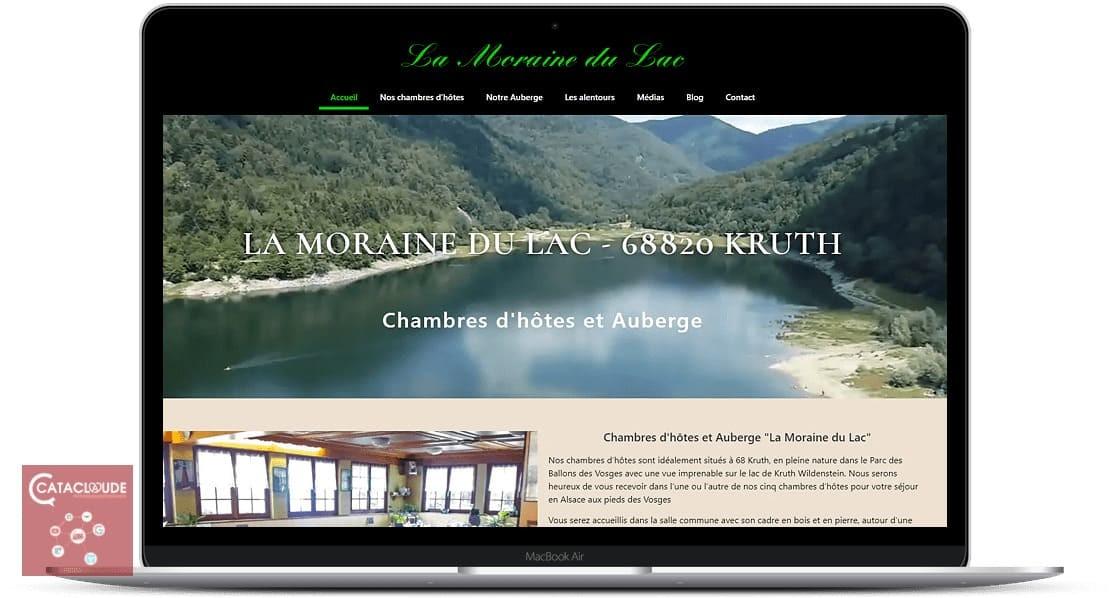 Refonte et création site Internet pour l'Auberge Du Lac et chambres d'hôtes La Moraine Du Lac à 68 Kruth au fond de la vallée de Thann - Alsace