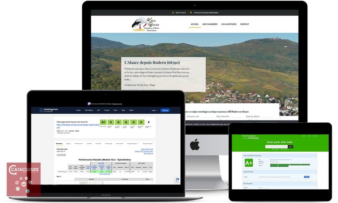 Chambres hotes Kress Bleger - 68 - Rodern - Cataclaude, création de site Internet depuis 68 Wittelsheim entre Mulhouse et Colmar, Sélestat