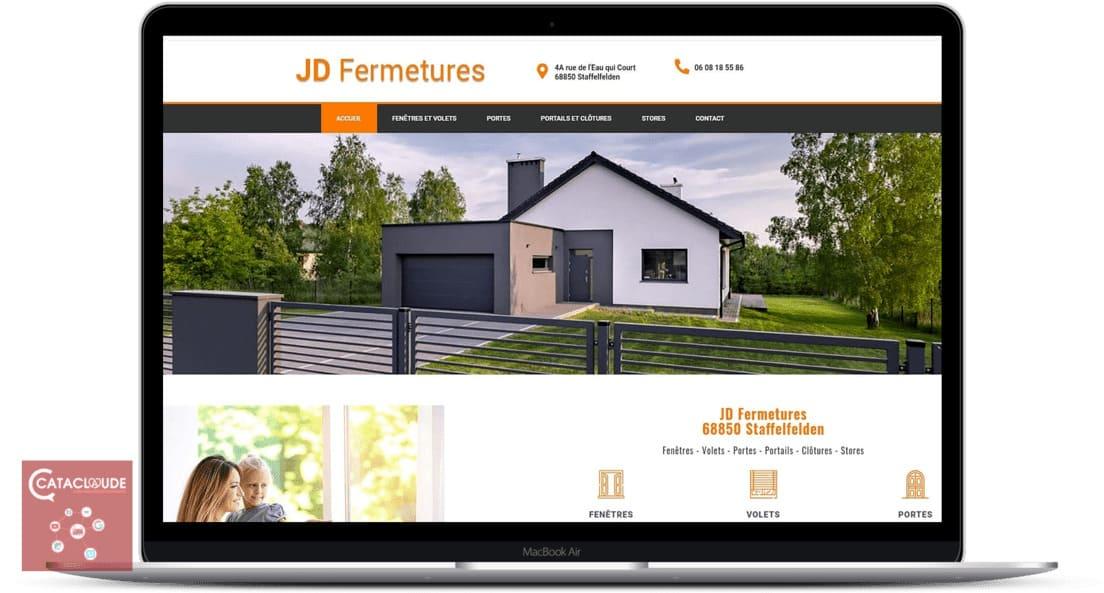 Cataclaude, Création site Internet Wittelsheim entre 68 Mulhouse, Colmar, Thann pour JD Fermetures à 68 Staffelfelden