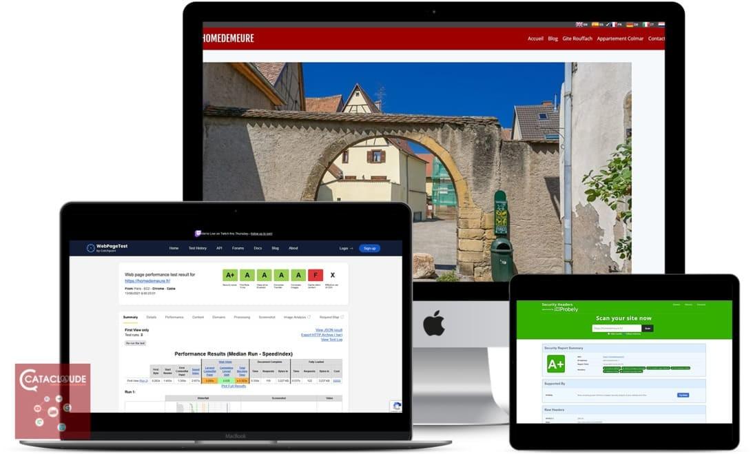 Homedemeure - 68 - Rouffach et appartement vacances à Colmar. Cataclaude création de site Internet 68 Mulhouse, Colmar, Sélestat