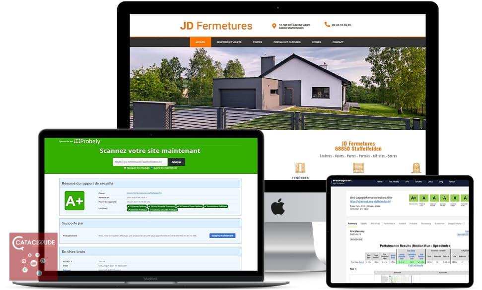 Refonte, création de site Internet depuis 68 Mulhouse pour JD Fermetures à 68 Staffelfelden près de Wittelsheim68310