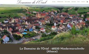 Creation sites Internet depuis 68 Wittelsheim pour Le Domaine de l'Oriel - 68230 Niedermorschwihr (Alsace) De père en fils depuis 13 générations…