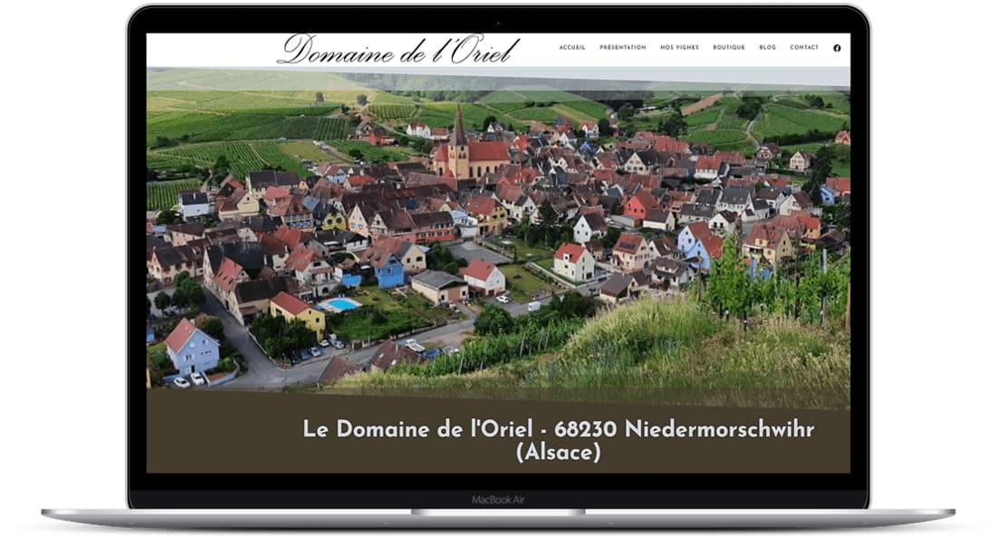 Création site Internet domaine Oriel - 2021