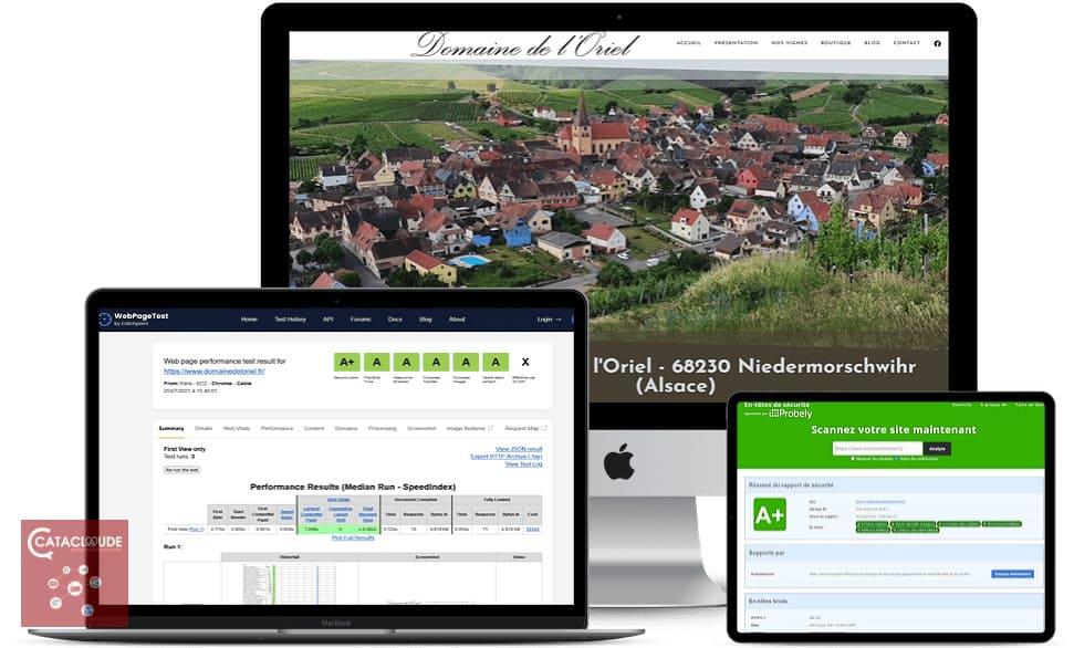 création sites internet depuis Wittelsheim 68. Tests de performances et sécurité site web Ok