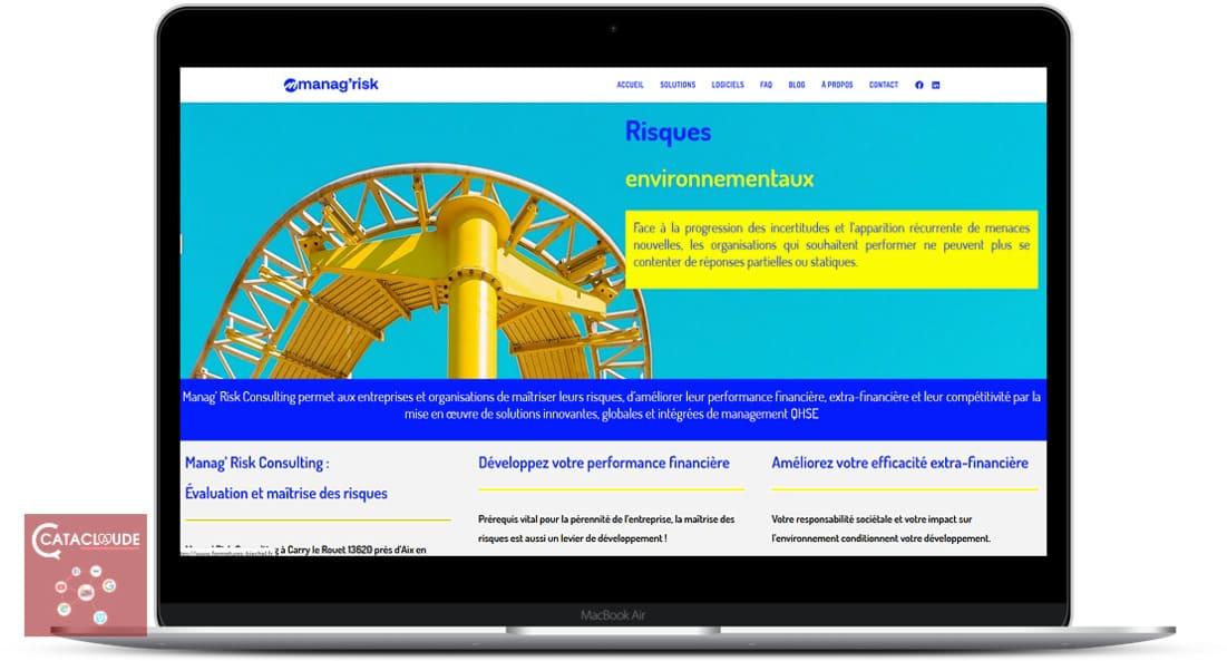 Création site Web depuis Wittelsheim entre 68 Mulhouse, Colmar, Thann pour Manag' Risk Consulting à Carry le Rouet 13620 près d'Aix en Provence