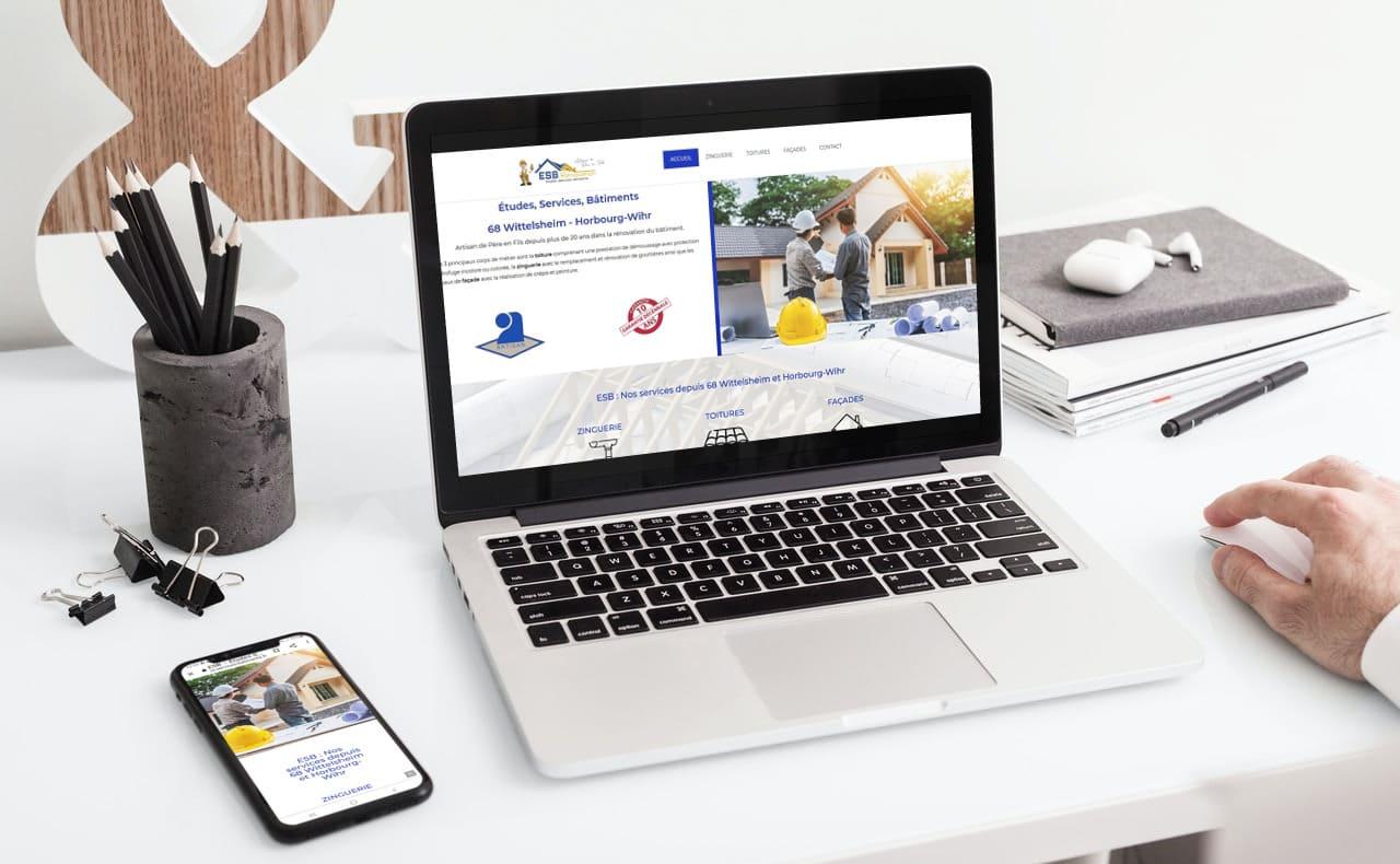 Cataclaude, creation de sites Internet à 68 Wittelsheim entre Thann et Mulhouse pour la socité ESB Études, Services, Bâtiments 68 Wittelsheim - Horbourg-Wihr Artisan de Père en Fils depuis plus de 20 ans dans la rénovation du bâtiment.
