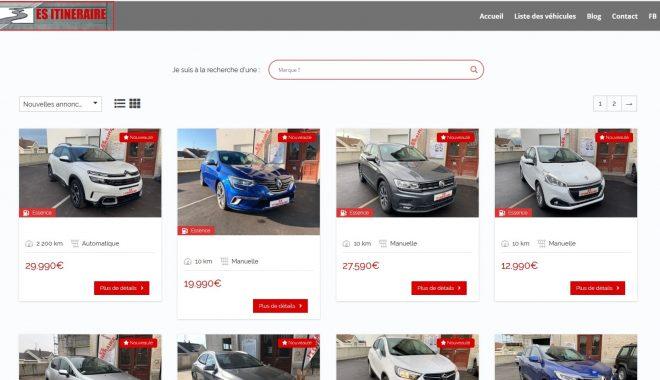 Création et mise en ligne d'un nouveau site Internet vitrine pour un mandataire automobile situé à 68 Waldighoffen près d'Altkirch, Belfort, Saint Louis