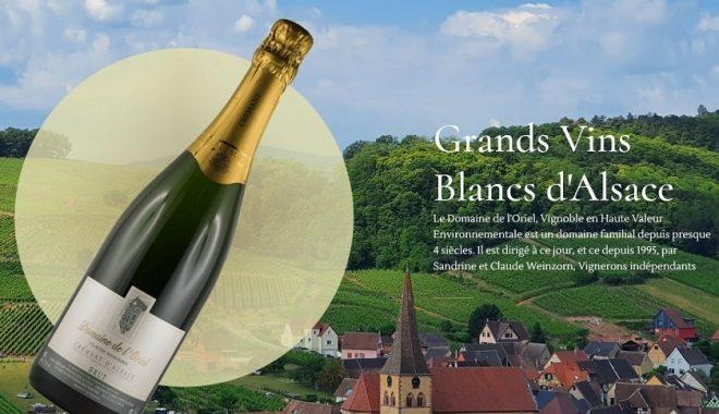Création et référencement site Internet pour un nouveau client vigneron indépendant de grands vins d'Alsace à savoir le Domaine de l'Oriel 68 Niederemorschwihr près de Colmar (Alsace)